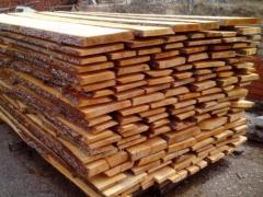 Board not cut pine