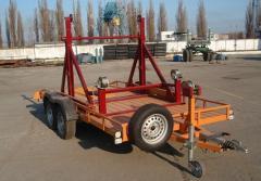 Прицеп лафет двухосный (с механизмом для перевозки катушки с электрокабелем) КРД-050112