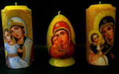 Paschal candles, painted eggs, iconography, gifts,