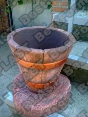 Вазон клумба дубовая, форма вазона, кашпо из