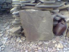 Плитняк серо-зеленогои коричневого кольору