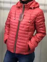 Spring women's jacket, D2 model, color coral
