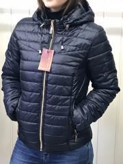 Spring women's jacket, D2 model, color dark blue.