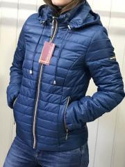 Spring women's jacket, D2 model, color blue.