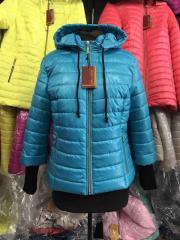 Куртка женская весенняя, модель Довяз, цвет бирюза