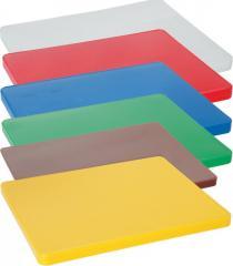 Доска разделочная из полипропилена (полиэтилена) HACCP, красная, 600x400 мм HENDI 825617