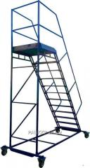 Лестница складская передвижная стальная....