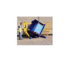 Механизм замены поддона, использующий технологию наклона груза на 110°