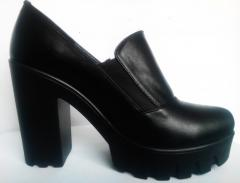 Shoe boots leather