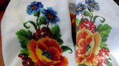 Вышивка бисером одежды