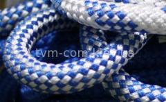 Канат плетеный капрон ф22 мм бел