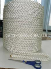 Канат плетеный 12-прядный капрон ф 8,5мм