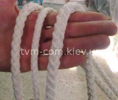 Канат плетеный 12-прядный хлопок ф8,5мм