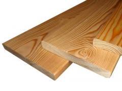 Planken of a straight line pine