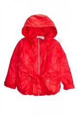Куртка для девочки с поясом