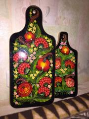 Set of decorative chopping boards mountain ash Big