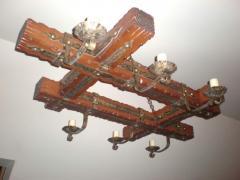 Светильник из дерева под старинку