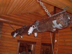 Необычный светильник в баню