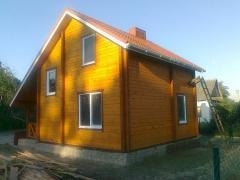 Дом двухэтажный деревянный