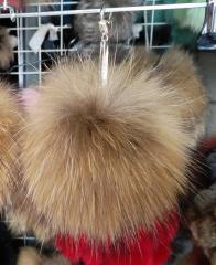 Charm fur, raccoon