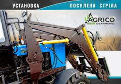 KUHN tractor MTZ-92, MTW-1025 in the winery, Khmelnitsk