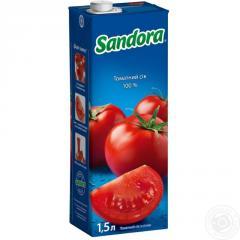 Sandora сік 1,5л томатний з сіллю