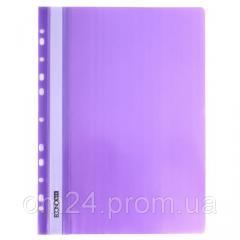 Скоросшиватель пластиковый А4, с перфорацией, фиолетовый 31508-12