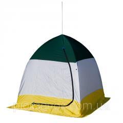 Платка зимняя зонт, для зимней рыбалки на алюминиевом каркасе СТЭК ELITE дышащая 1-местная