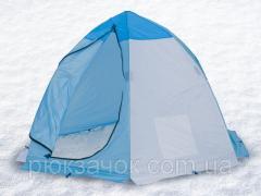 Палатка зимняя зонт, для зимней рыбалки на алюминиевом каркасе СТЭК ELITE дышащая  2 местная
