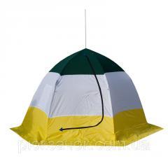 Палатка зимняя зонтик для зимней рыбалки на алюминиевом каркасе СТЭК ELITE дышащая   3 местная
