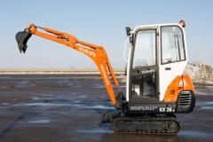 Pass the Kubota KX36-3 excavator