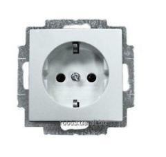 20 EUC-94-507 Розетка с заземляющим контактом Basic55 ABB альп.бел