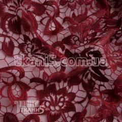 Fabric Guipure NEW embroidery (claret) 5745