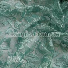 Fabric Guipure embroidery of NEW (sage) 5742