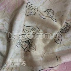 Fabric Flax organza (flowers) 791