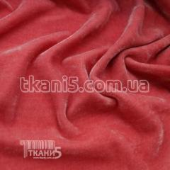 Fabric of Streych velvet China (coral) 5687