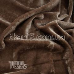 Fabric of Streych velvet China (dark bezh) 5686
