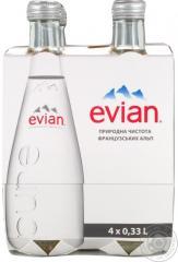 Вода Эвиан негазированная стеклянная бутылка 330мл