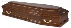 Гроб эконом лакированный К-М FLAT