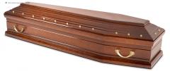 Гроб эконом лакированный К-36 ТОПОЛЬ