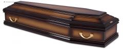 Гроб эконом лакированный К-М FLAT тенение