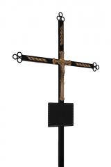 Крест металлический с распятием и табличкой