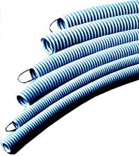 Pipes are plastic corrugated