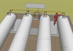 Gas-filling compressor station