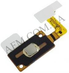 Шлейф (Flat cable) Samsung G530H Galaxy Grand Prime с кнопкой Меню и белой пластиковой накладкой