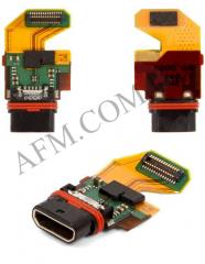 Шлейф (Flat cable) Sony E6833 Xperia Z5+ /  E6853/  E6883,   с разъёмом зарядки