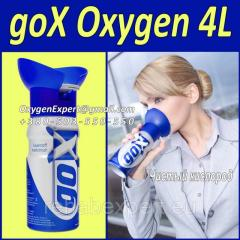 Кислородный баллончик-Gox-4 Liters Pure Canned Oxygen Spray 4 л кислорода