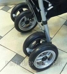 Set of cast wheels for a children's