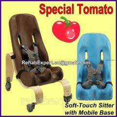 Кресло Special Tomato Sitter Size 4 c деревянной мобильной базой