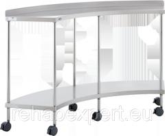Закругленный угловой стол для операционных  и смотровых кабинетов Uzumcu 40200